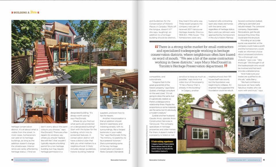 Renovation Contractor Magazine