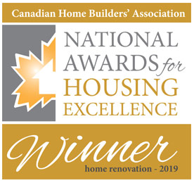 CHBA National Awards for Housing Excellence Winner - Dependable Renovations